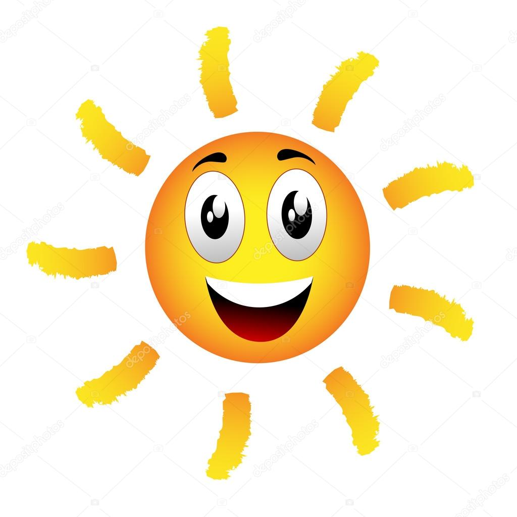 Emoticon Sonne — Stockvektor © nickylarson #28930381