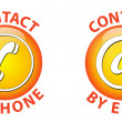 Contact icon — Stock Vector