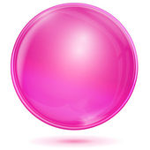 Pink bubble — Stock Vector