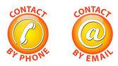 Contact icon — Stock Vector