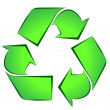Stock Vector: Recycle symbol