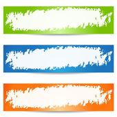 Banner grunge — Vector de stock