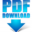 Pdf download icon — Vektorgrafik