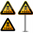 Warning toxic sign — Stock Vector