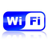 Wifi blue icon — Vettoriale Stock