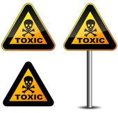 Warning toxic sign — Stock Vector