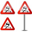 Stock Vector: Slippery road
