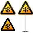 Snow roadsign — Stock Vector #37807593