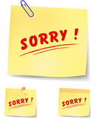 Sorry note — Stock Vector