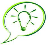 Green bulb bubble — Stock Vector