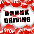 Stop drunk driving — Stock Vector