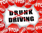 Stop drunk driving — Stock Vector