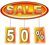 Sale icon with percentage — Stock Vector