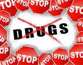 Stop drugs — Stok Vektör