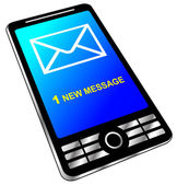 New message on phone — Stock Vector