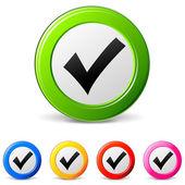 Tick icons — Stock Vector