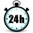 Stopwatch 24h icon — Stock Vector