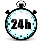 Stopwatch 24h icon — Stok Vektör