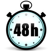 48h stopwatch icon — Stock Vector