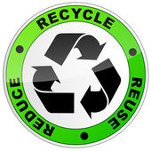 Recycle round sign — Stock Vector