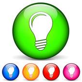 Bulb icons 3d — Stok Vektör
