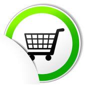 Vector comprar papel de ícone — Vetor de Stock