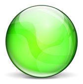 ベクトル緑 3 d バブル — ストックベクタ