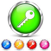 Vector key icons — Stock Vector