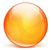 Vector orange 3d bubble — Stock Vector