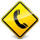 Vector phone sign — Stock Vector