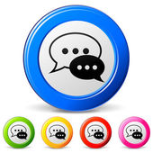 Vector chat icons — Stock Vector