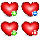 Vector hearts icons — Stock Vector