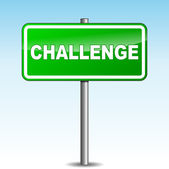 Vector challenge signpost — Stock Vector