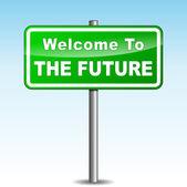 Vector future signpost — Stock Vector