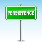 Vector persistence signpost — Stock Vector