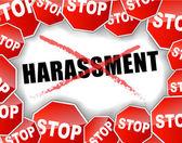 Stop harassment — Stock Vector