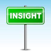 Vector insight signpost — Stock Vector