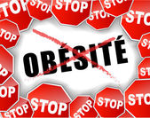 Stop obesity french — Stock Vector