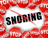 Stop snoring — Stock Vector