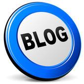 Vector 3d blog icon — Stock Vector