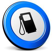Vector 3d fuel icon — Stock Vector