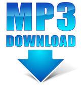Vector mp3 download icon — Stock Vector