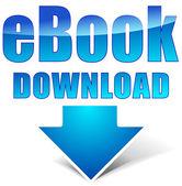 Vector e-book download icon — ストックベクタ
