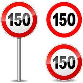 Vector honderd vijftig teken — Stockvector