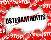 Stop osteoarthritis — Stock Vector