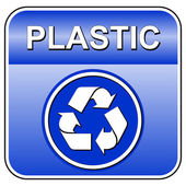 Vector plastic recycle sign — Stock Vector