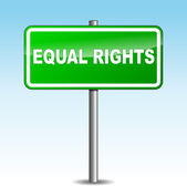 Vector equal rights signpost — Stock Vector