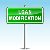 Vector loan modification signpost — Stock vektor