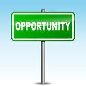 Vector opportunity signpost — Stock vektor