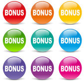 Vector bonus set icons — Stock Vector